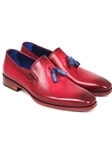 Burgundy Plain Toe Men's Tassel Loafer | handmade Men Loafers | Sam's Tailoring Fine Men's Clothing