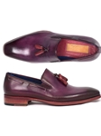 Purple Plain Toe Men's Tassel Loafer | handmade Men Loafers | Sam's Tailoring Fine Men's Clothing