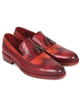 Bordeaux & Tobacco Kiltie Tassel Loafer | handmade Men Loafers | Sam's Tailoring Fine Men's Clothing