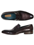 Black & Gray Hand Painted Men's Loafer | handmade Men Loafers | Sam's Tailoring Fine Men's Clothing