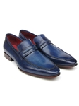 Navy Italian Calfskin Leathe Men's Loafer | handmade Men Loafers | Sam's Tailoring Fine Men's Clothing