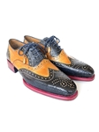Genuine Iguana & Leather Wingtip Men's Oxford | Hand Made Exotic Skins Shoes | Sam's Tailoring Fine Men Clothing