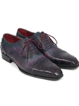 Purple Genuine Ostrich Cap-Toe Oxford | Hand Made Exotic Skins Shoes | Sam's Tailoring Fine Men Clothing