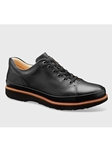 Black Full Glove Leather With Black Sole Dress Shoe | Men's Spring Dress Shoes | Sam's Tailoring Fine Men Clothing