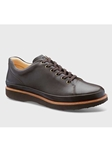 Brown Full Glove Leather With Brown Sole Dress Shoe | Men's Spring Dress Shoes | Sam's Tailoring Fine Men Clothing