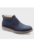 Navy Nubuck With Grey Sole Fine Men Shoe | Men's Spring Dress Shoes | Sam's Tailoring Fine Men Clothing