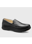Black Leather With Black Sole No Lace Shoe | Men's Spring Casual Shoes | Sam's Tailoring Fine Men Clothing