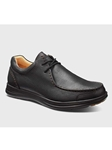 Black Leather With Black Sole Men's Casual Shoe | Men's Spring Casual Shoes | Sam's Tailoring Fine Men Clothing