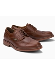 Chestnut Smooth Leather Men's Derby Shoe | Mephisto Oxfords Shoes Collection | Sam's Tailoring Fine Men Clothing