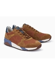 Cognac Textile Leather Breathable Men's Causal Shoe | Mephisto Men's Allrounder Shoes | Sams Tailoring Fine Men Clothing