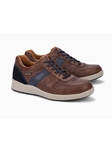 Chestnut Smooth Leather Men's Suede Sneaker | Mephisto Men's Sneakers | Sams Tailoring Fine Men Clothing