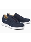 Navy Leather Lining Men's Nubuck Sneaker | Mephisto Men's Sneakers | Sams Tailoring Fine Men Clothing