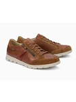 Tobacco Smooth Leather Mobils Men's Suede Sneaker | Mephisto Men's Sneakers | Sams Tailoring Fine Men Clothing