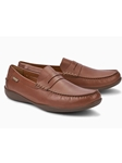Chestnut Smooth Leather Flat Heel Men's Loafer | Mephisto Loafers Collection | Sam's Tailoring Fine Men Clothing