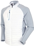 Pure White/Magnesium Sunice Hamilton Hybrid Thermal Jacket | Bobby Jones Jackets Collection | Sam's Tailoring Fine Men Clothing
