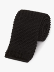 Black Men's Classic Silk Knit Tie | Fine Ties Collection | Sam's Tailoring Fine Men Clothing