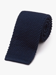 Navy Men's Classic Silk Knit Tie | Fine Ties Collection | Sam's Tailoring Fine Men Clothing