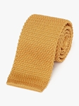 Gold Fine Men Classic Silk Knit Tie | Fine Ties Collection | Sam's Tailoring Fine Men Clothing