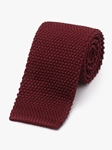 Burgundy Men Classic Silk Knit Tie | Fine Ties Collection | Sam's Tailoring Fine Men Clothing