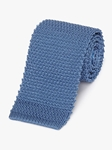 Blue Men's Classic Silk Knit Tie | Fine Ties Collection | Sam's Tailoring Fine Men Clothing