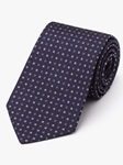 Navy With Blue & White Woven Neat Tie | Fine Ties Collection | Sam's Tailoring Fine Men Clothing