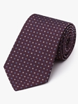 Burgundy With Blue & White Accents Neat Tie | Fine Ties Collection | Sam's Tailoring Fine Men Clothing