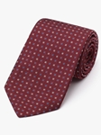 Red With Blue & White Accents Neat Tie | Fine Ties Collection | Sam's Tailoring Fine Men Clothing
