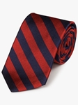 Red & Navy Woven Repp Stripes Tie | Fine Ties Collection | Sam's Tailoring Fine Men Clothing