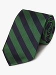 Green & Navy Woven Repp Stripes Tie | Fine Ties Collection | Sam's Tailoring Fine Men Clothing
