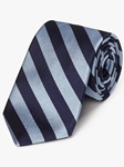 Blue & Navy Woven Repp Stripes Tie | Fine Ties Collection | Sam's Tailoring Fine Men Clothing