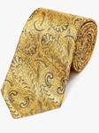 Gold On Navy Paisley Pattern Woven Tie | Fine Ties Collection | Sam's Tailoring Fine Men Clothing