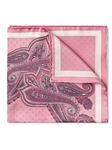 Pink Silk Satin Fine Paisley Pocket Square | Pocket Squares Collection | Sam's Tailoring Fine Men Clothing