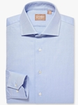 Royal Oxford Blue Wide Spread Big And Tall Shirt | Big And Tall Shirts Collection | Fine Men Clothing