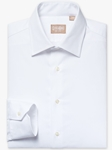 White Mini Twill Medium Spread Big And Tall Shirt | Big And Tall Shirts Collection | Fine Men Clothing
