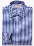 Navy Medium Spread Gingham Big And Tall Shirt| Big And Tall Shirts Collection | Fine Men Clothing