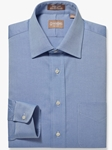 Blue Medium Spread Pinpoint Big & Tall Shirt | Big And Tall Shirts Collection | Fine Men Clothing