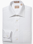 White Medium Spread Pinpoint Big And Tall Shirt | Big And Tall Shirts Collection | Fine Men Clothing