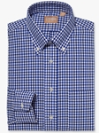 Navy Button Down Gingham Big And Tall Shirt | Big And Tall Shirts Collection | Fine Men Clothing