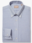 Navy Graph Check Button Down Big & Tall Shirt | Big And Tall Shirts Collection | Fine Men Clothing