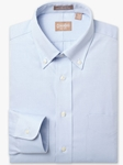 Light Blue Button Down Pinpoint Big & Tall Shirt | Big & Tall Shirts Collection | Fine Men Clothing