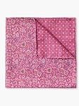 Rose Paisley Dot Pattern Silk Pocket Square | Pocket Squares Collection | Sam's Tailoring Fine Men Clothing
