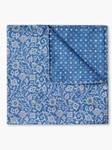 Blue Paisley Dot Pattern Silk Pocket Square | Pocket Squares Collection | Sam's Tailoring Fine Men Clothing