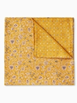 Yellow Paisley Dot Pattern Silk Pocket Square | Pocket Squares Collection | Sam's Tailoring Fine Men Clothing