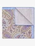 Blue Paisley Spring Cotton Pocket Square | Pocket Squares Collection | Sam's Tailoring Fine Men Clothing