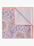 Peach Paisley Spring Cotton Pocket Square | Pocket Squares Collection | Sam's Tailoring Fine Men Clothing