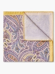 Yellow Paisley Spring Cotton Pocket Square | Pocket Squares Collection | Sam's Tailoring Fine Men Clothing