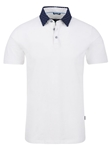 White Pique Knit Short Sleeve Polo Shirt | Polos Collection |Sam's Tailoring Fine Men's Clothing