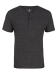 Charcoal Triblend Short Sleeve Men's Henley | Polos Collection |Sam's Tailoring Fine Men's Clothing