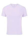 Lavender V-Neck Modal Short Sleeve T-Shirt | Polos Collection |Sam's Tailoring Fine Men's Clothing