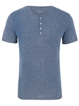 Navy Triblend Short Sleeve Men's Henley | Polos Collection |Sam's Tailoring Fine Men's Clothing